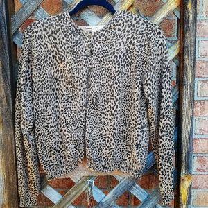 Vintage JH Collectibles Cheetah Print cardigan